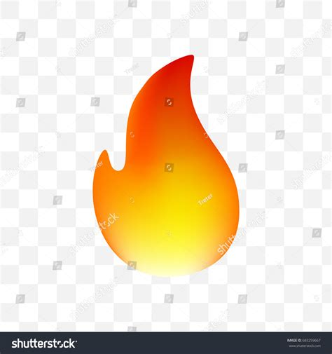 fire emoticon  transparent background isolated stock