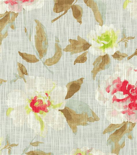 joann fabrics home decor home decor print fabric hgtv home pretty please blushing