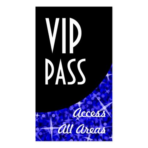 vip pass template glitz blue vip pass black curve zazzle