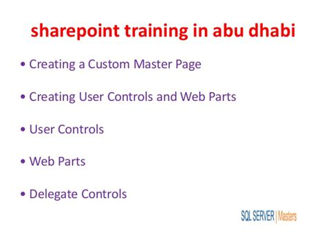 Distance Mba In Abu Dhabi by Sharepoint In Abu Dhabi