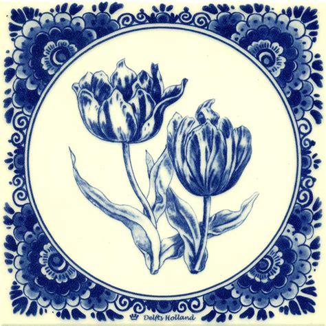 fliese 15x15 delft blue tile 2 tulips tiles souvenir shop nl