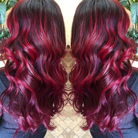 blood hair color best 20 bright highlights ideas on