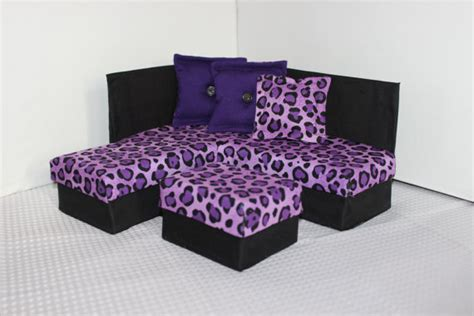 leopard print decor living room barbie doll house playscale 1 6 scale fashion doll furniture for barbie