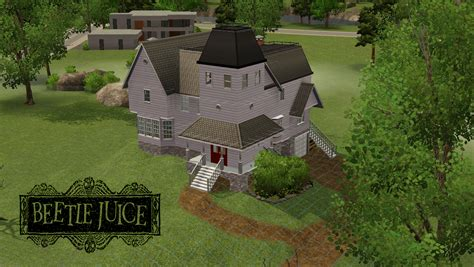 4 Bedroom House Floor Plans my sims 3 blog beetlejuice house exterior and build