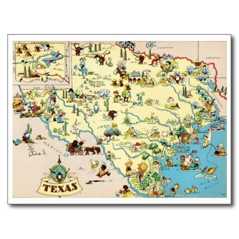 product map of texas 17 best images about states i ve lived in or visited on vintage new york postcards