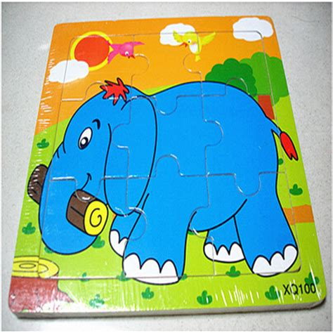 printable science jigsaw puzzles 1pc 9 parts elephant wooden jigsaw puzzle for children