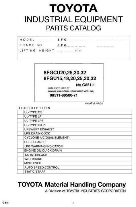 Toyota Electric Pallet Error Codes Toyota 8fgu15 18 20 8fgu25 8fgu30 8fgu32 8fgcu20