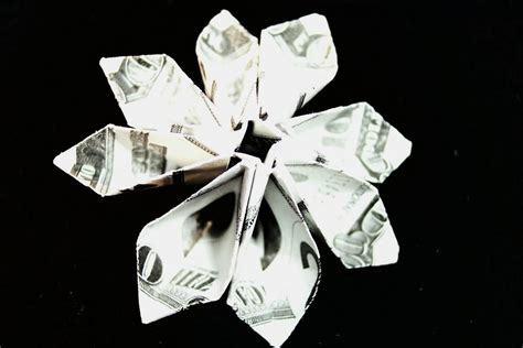 Origami Flower Dollar - dollar bill flower module diagrams flotsam and origami