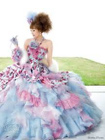 colorful wedding dresses the ultimate colourful wedding dresses