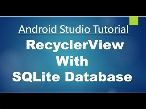 new boston android studio tutorial youtube android studio tutorial 80 working with recyclerview