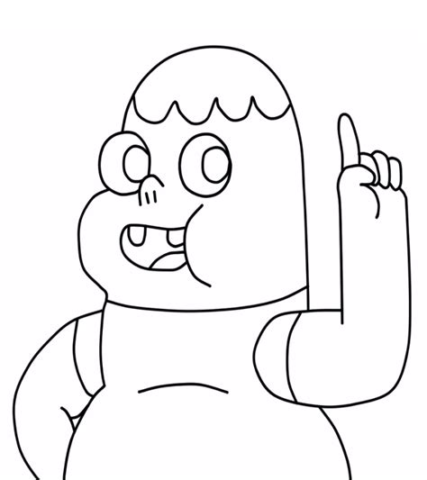 clarence cartoon network coloring pages sketch coloring page