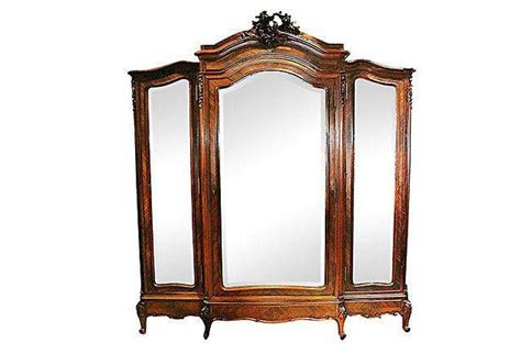 antique french rosewood 3 door armoire omero home