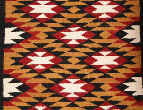 Transitional Home Style by Navajo Double Saddle Blanket Navajo Weaving For Sale