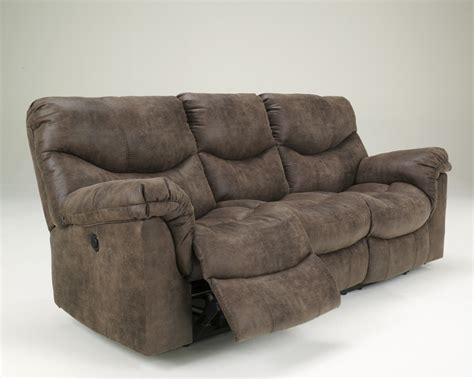 Reclining Sofa With by Alzena Gunsmoke Reclining Power Sofa 7140087