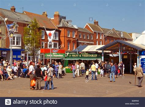 typical busy town centre and market square great