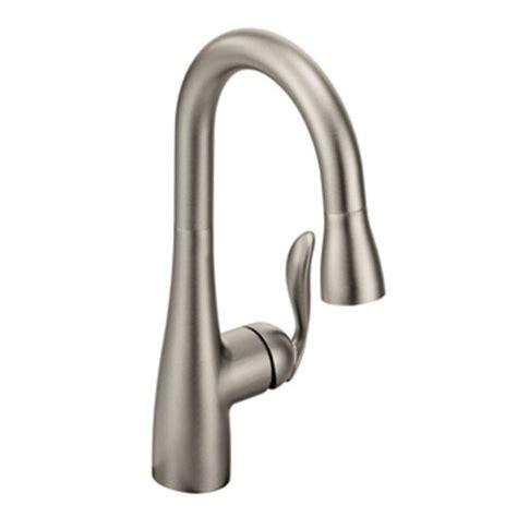 moen arbor kitchen faucet moen 5995srs arbor single handle high arc pulldown bar faucet spot resist stainless
