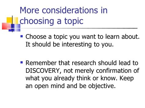 A Topic by Selecting And Narrowing Research Topics