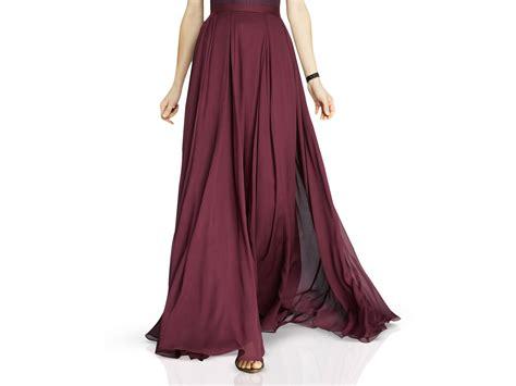 flowing georgette maxi skirt in lyst