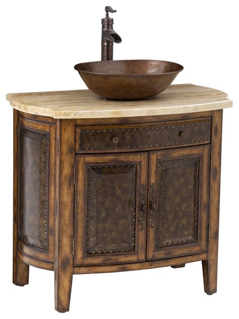 Bathroom Vanity Chest by Rustico Vessel Sink Chest Traditional Bathroom