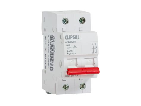 Isolator Switch Clipsal clipsal 4psw280 isolator switch 2 pole 2 module 80 a