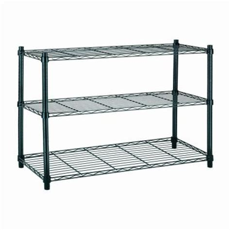 hdx 3 shelf steel shelving unit in black eh wsthdus 006b