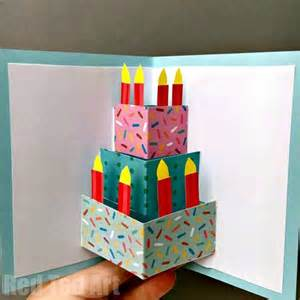 how to make pop up birthday cards for easy pop up birthday card diy ted s
