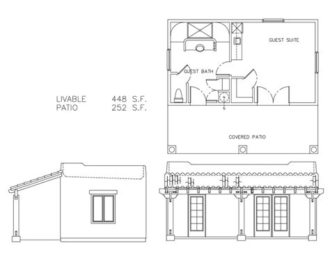 guest house plans free guest houses 448 sf welcome to plans by dean drosos