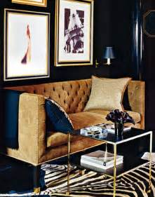 Navy Blue And Gold Living Room by Desert Vintage Navy Blue And Brown