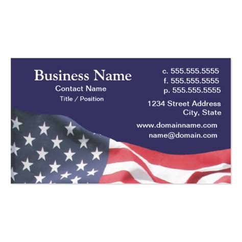 Flag Business Card Template by American Flag Business Card Templates Bizcardstudio