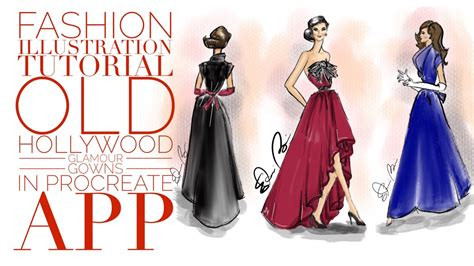 fashion illustration needed fashion illustration tutorial gowns digital illustration in procreate app