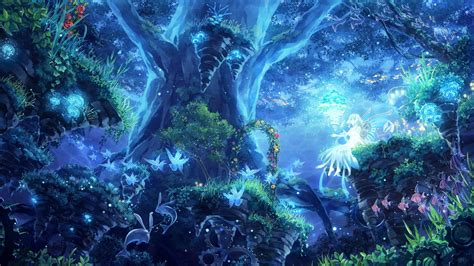 wallpaper blue forest 21 magical wallpapers mystical backgrounds pictures