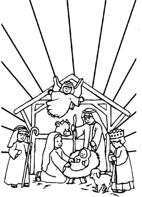 jesus is born nativity coloring page nativity pictures images cliparts co