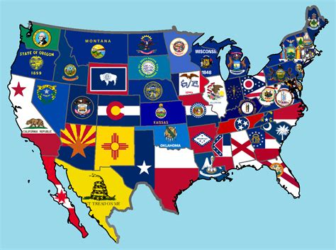 usa stae map image new 50 states flag map png alternative history