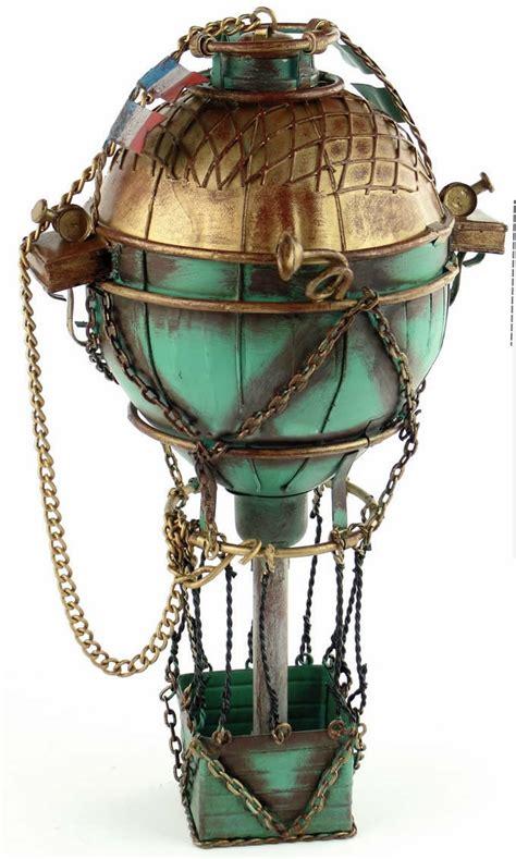 handmade antique tin model   century france hot air balloon feelgift