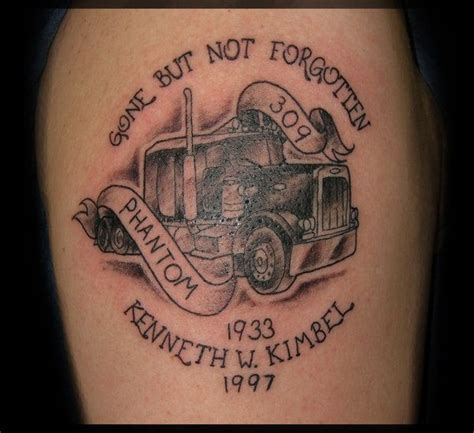 trucker tattoo designs 11 best semi images on