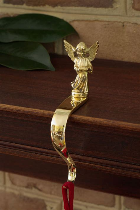 angel stocking holders for mantle classic holder brass gallery