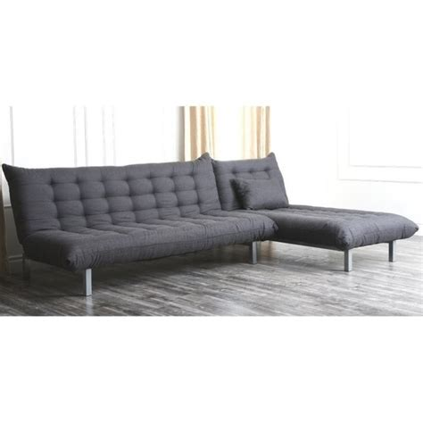 abbyson living sectional sofa abbyson living bedford fabric sectional sofa in gray yg