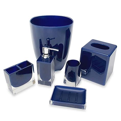 Blue Bathroom Accessories Sets Buy Boutique Tissue Box Cover In Nautical Blue From Bed Bath Beyond