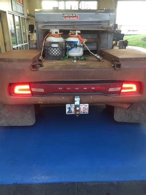 truck mounted work lights dodge charger taillights mounted on field work trucks