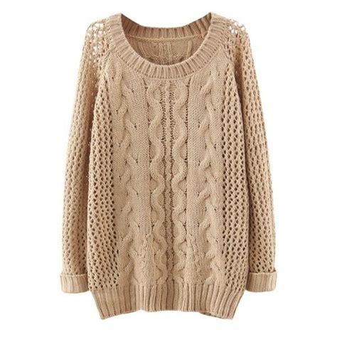 Sleeve Plain Raglan Top plain raglan sleeve cable open knit sweater 27 liked on