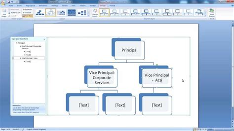 microsoft office flowchart 2010 hierarchy create a hierarchy in word for dummies for