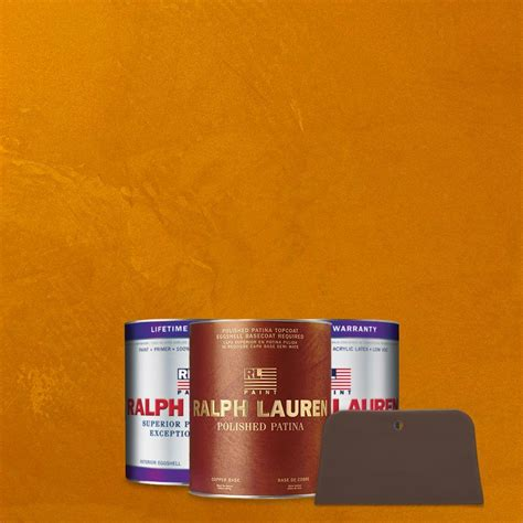 ralph 1 qt imperial topaz copper polished patina interior specialty paint kit pp102 04k