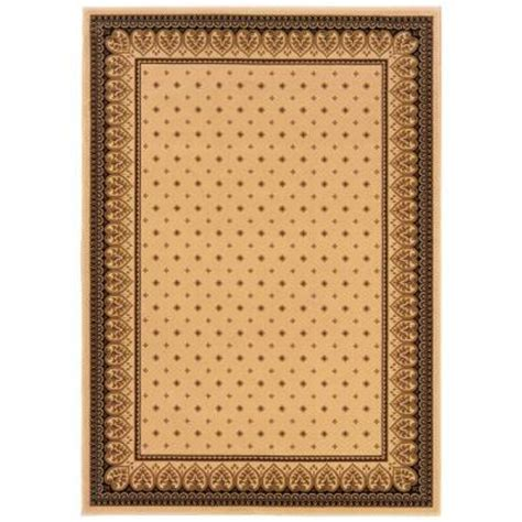 natco home fashions rugs natco sapphire fleur de lis ivory 5 ft 3 in x 7 ft 7 in area rug 4338 14 60me the home depot