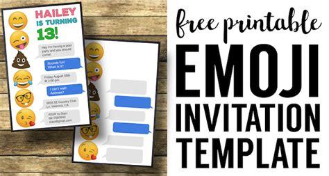 Emoji Birthday Invitations Free Printable Template Paper Trail Design Emoji Birthday Invitation Template Free