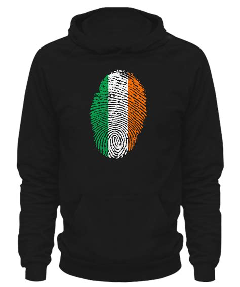 hoodie design ireland ireland touched my soul fingerprint hoodie front back design