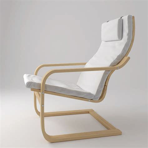 3d model ikea poang armchair chair