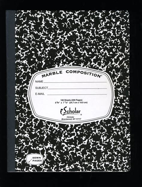 composition book template vernacular typography composition notebook 025