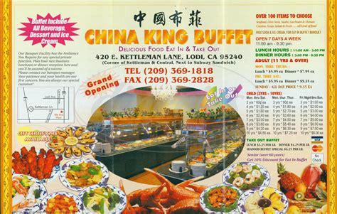 china king buffet menu lodi dineries
