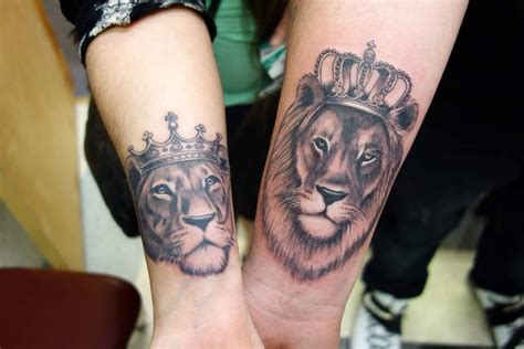 lion couple tattoos 60 tattoos to keep the forever alive tattoos