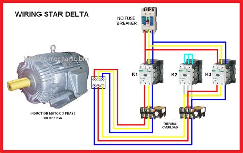delta motor connection diagram